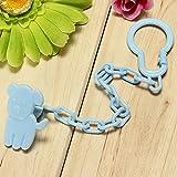 Bluelover Bebé infantil chupete chupete cadena pezón Clip soporte juguete