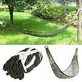 TRIXES Kleine Army Reise hängematte aus Nylon für Camping, zum Entspannen und Schlafen oder für den Garten