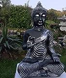 Nº 0832meditando Buda 48cm en plata Estatua Figura Escultura mano