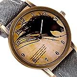vyset (TM) superior Retro reloj Wolf reloj de pulsera banda