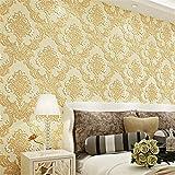 BTJC Papel pintado no tejido 3D super grueso patrón dormitorio