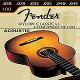 Juego 6 Cuerdas para Guitarra Acustica Española De Nylon Fender