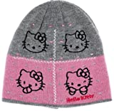 Hello kitty-Gorro infantil, diseño de cara de kitty, color gris/rosa/4007