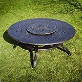 Rosie 180cm redonda muebles de jardín Set-1Rosie mesa + 8sillas