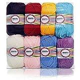 worsted Peso ovillo de lana, hilo de hilo para tejer,