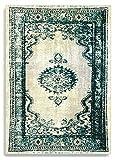 Barefoot - Alfombra de estilo persa moderno vintage, 100 x