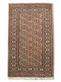 Tradicional hecha a mano persa Bokhara alfombra, Lana, Rosa, 80x