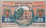 billetes para coleccionistas: alemán Imperio artículo: Notgeld el ciudad Quern