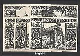 paderborn Notgeld: 1043.4 cinco Notgeldscheine el ciudad Paelborn 1921 25