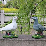 whh/Paloma jardín resina adornos/simulación animal modelos/parque micro-landscape Esculturas de animales