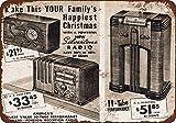 1937Silvertone Tubo radios aspecto Vintage reproducción Metal Tin Sign 7X