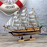 YONG Regalos creativos personalizados madera velero 24CM modelos Inicio decoración