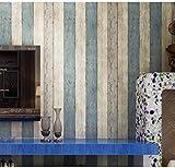 Madera efecto papel pintado soomj Oriental estilo mediterráneo no tejida