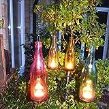 K7plus® Hängewindlicht - 4 Stück - Flaschenlicht mit 24 Teelichtern - Tolles Ambiente und Dekoration für Garten und Terrasse