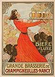 Cerveza Gran Cerveceríade Champigneulles-Nancy, Francia, 1903, Reproducción sobre Calidad 200gsm
