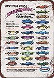 1969Speedline coches de juguete Vintage Look reproducción Metal Tin Sign