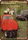 1974neumáticos de Firestone Corvette Porsche aspecto Vintage reproducción Metal Tin