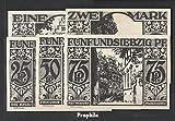 paderborn Notgeld: 1043.6 cinco Notgeldscheine el ciudad Paelborn 1921 25