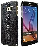 3Q Lujosa Funda Samsung S6 Carcasa Samsung S6 cocodrilo Novedad