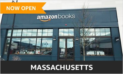 Amazon Books at MarketStreet Lynnfield