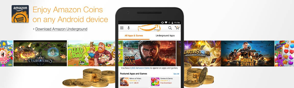 Enjoy Amazon Coins on any Android device