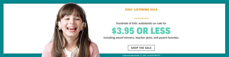 Kids' Audiobooks Sale