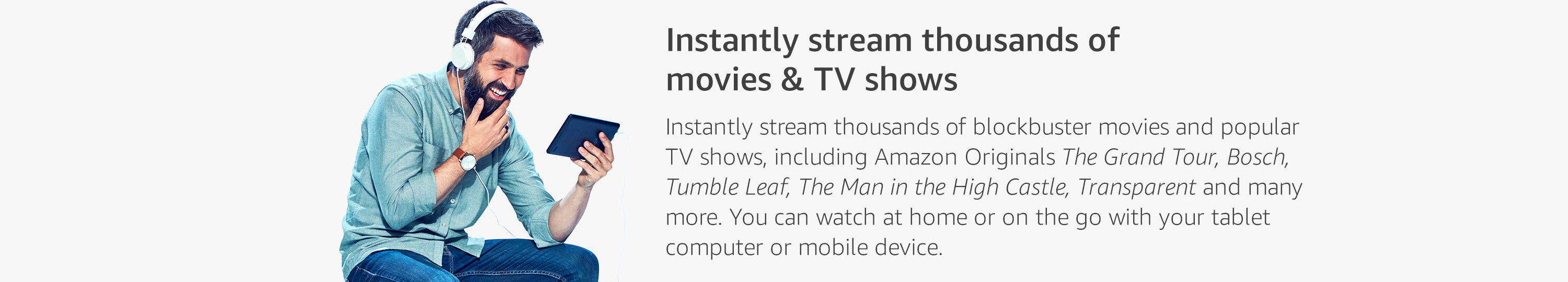 Stream thousands of movies and TV shows