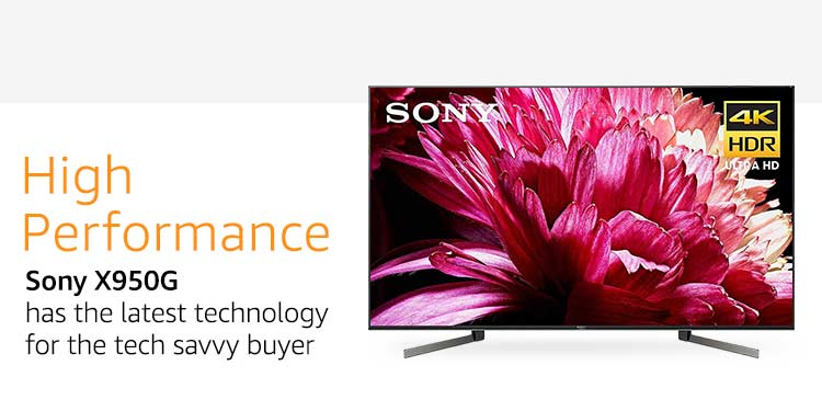Amazon com: Sony X950G 55 Inch TV: 4K Ultra HD Smart LED TV