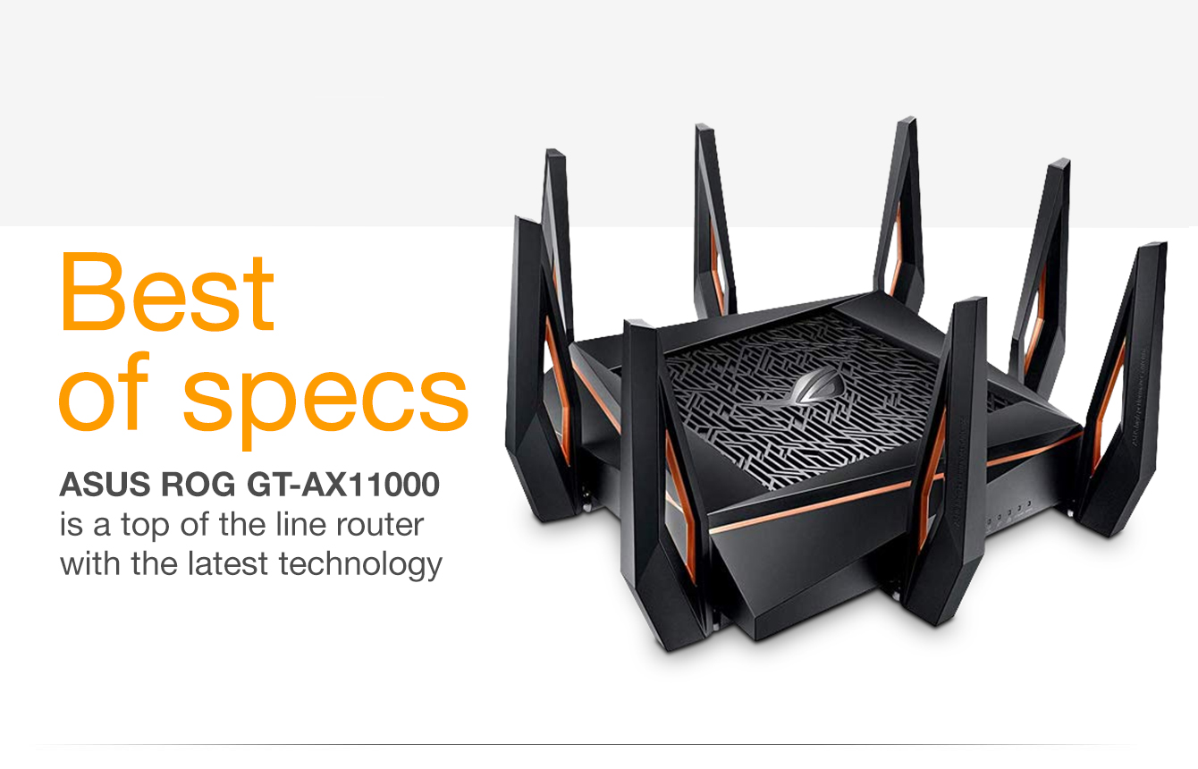 Amazon com: ASUS ROG Rapture GT-AX11000 AX11000 Tri-Band 10 Gigabit