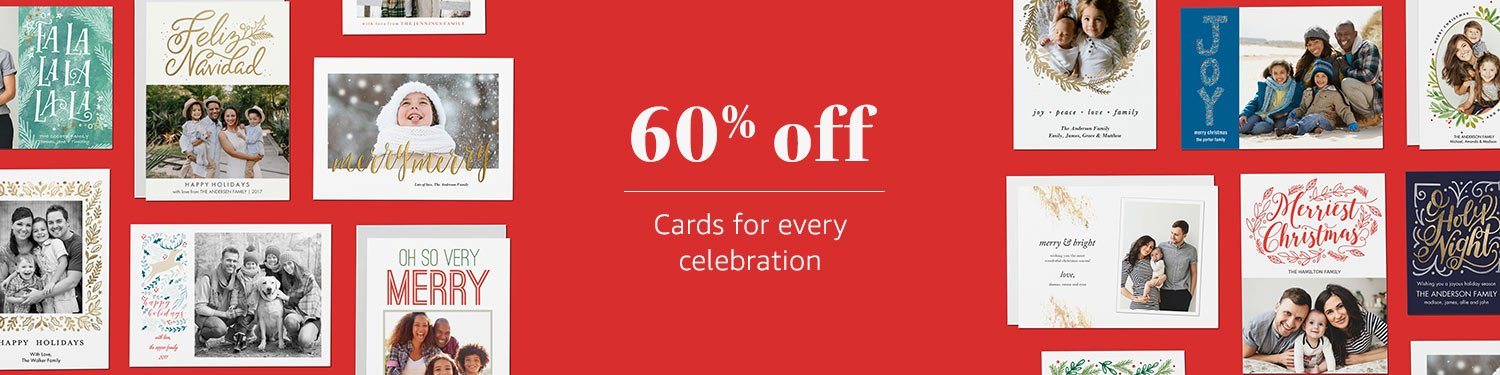 60% off Cards for every celebration