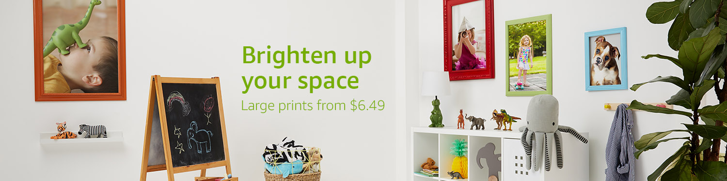 Brighten up your space: Large prints from $6.49