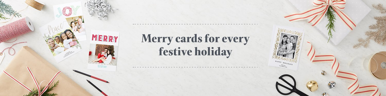 Merry cards for every festive holiday