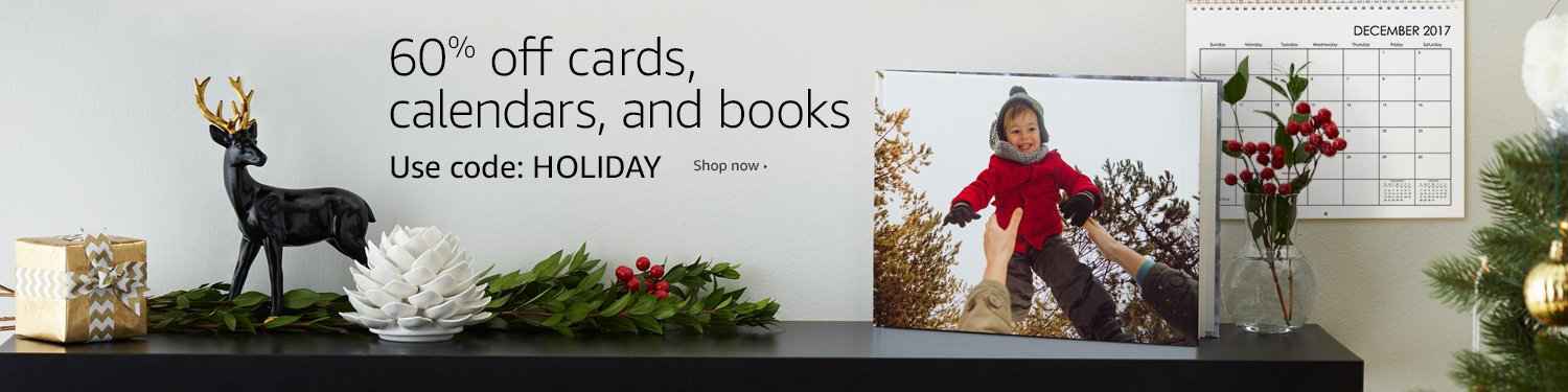60% off cards, calendars, and books. Use code: HOLIDAY