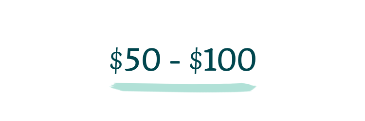 $50-$100