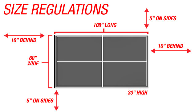 Size Regulations For Table And Court