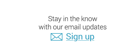 Stay in the know with our email updates