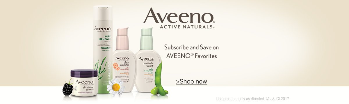 Subscribe & Save on Aveeno Favorites