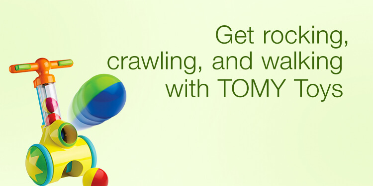 Get rocking, crawling, and walking with TOMY Toys