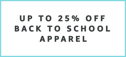 Up to 24% off Back to School Apparel