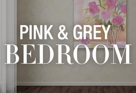 Pink Grey Bedroom