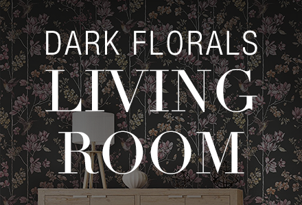 Dark Florals Living Room