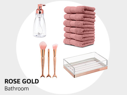 Rose Gold Bathroom