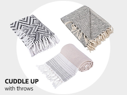 Cuddle up with throws