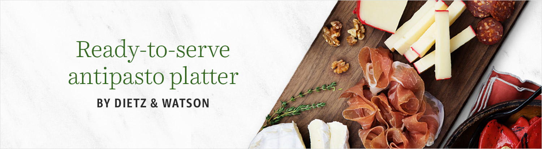 Ready-to-serve antipasto platter
