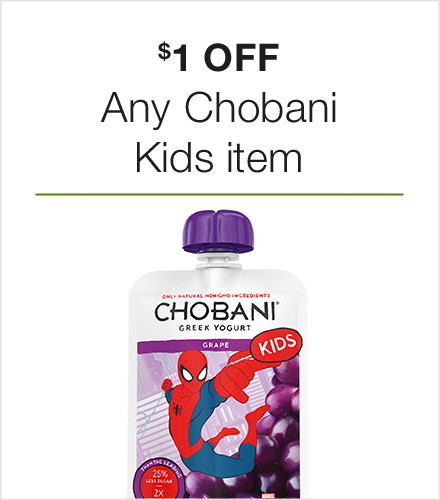 $1 off Any Chobani Kids Item