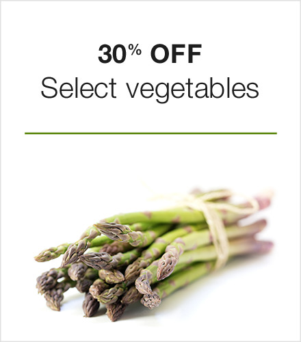 30% off select vegetables