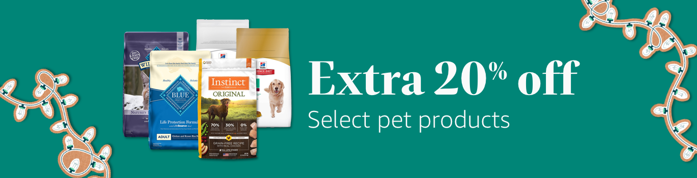 Extra 20% off Select pet products