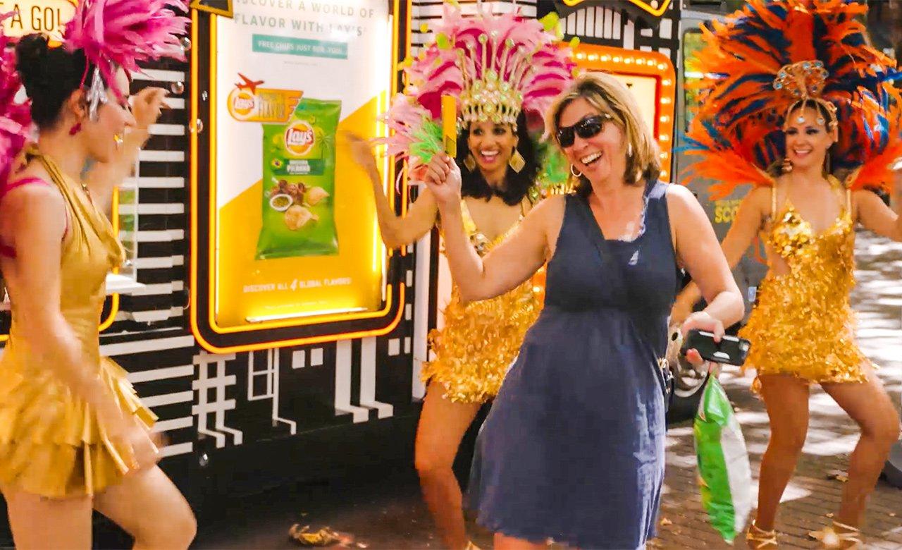 Dancing with samba dancers