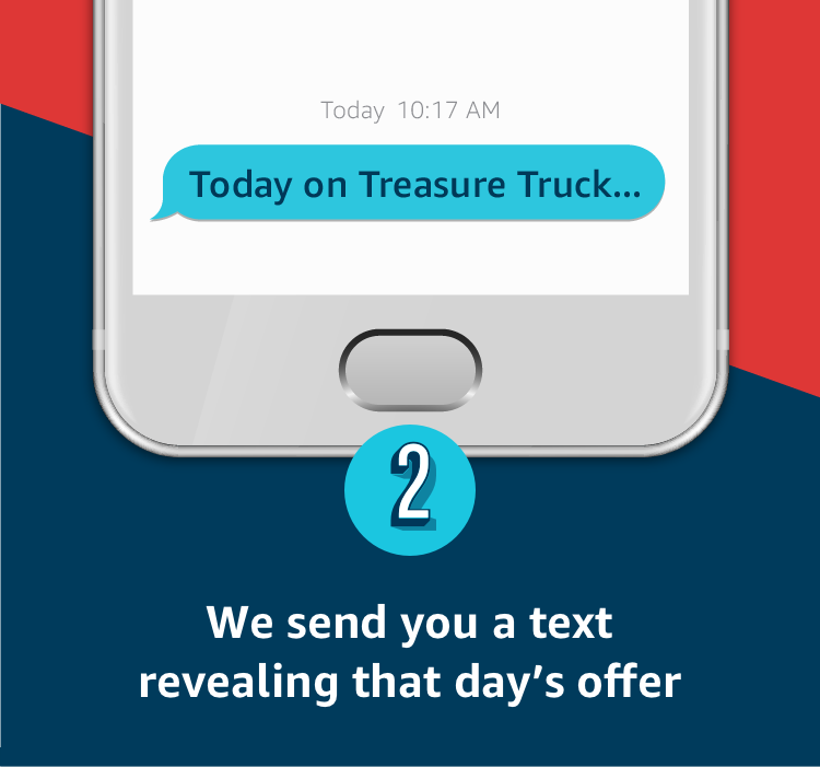 We send you a text revealing that day's offer