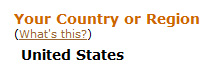 Image of country indicator on Kindle detail page.